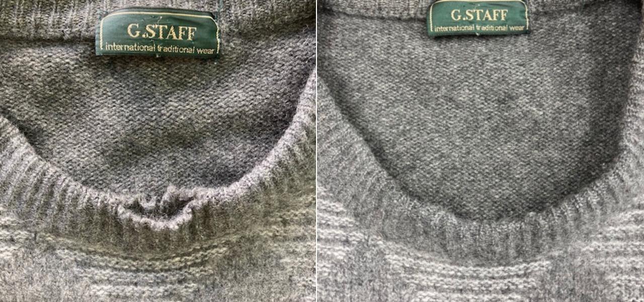 セーター穴直し